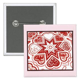 """Pin del cuadrado de """"mi corazón"""" (blanco)"""