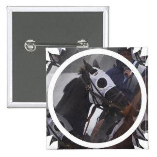 Pin del cuadrado del caballo de raza