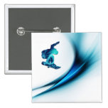 Pin del cuadrado del diseño de la snowboard