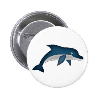 Pin del delfín pin redondo 5 cm