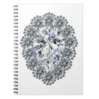 Pin del diamante de la pera note book