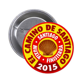 Pin del EL Camino de Santiago - Santiago, Muxia, Pin Redondo 5 Cm
