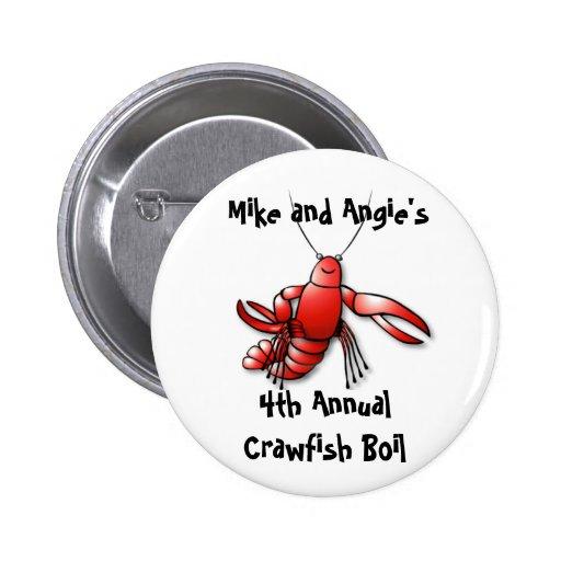 Pin del fiesta de la ebullición de los cangrejos