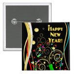 Pin del fiesta de la Feliz Año Nuevo