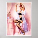 Pin del gabinete de señora para arriba poster