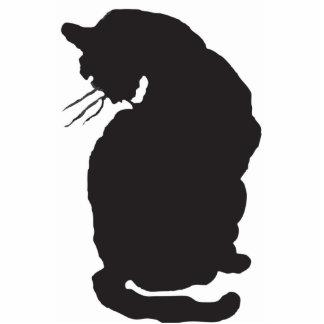 Pin del gato negro de Halloween Esculturas Fotográficas