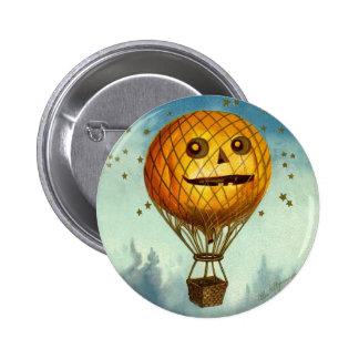 Pin del globo del aire caliente de Halloween del v Pin Redondo 5 Cm