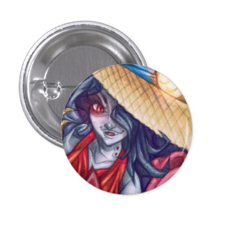 Pin del gorra de la reina del vampiro pin redondo 2,5 cm