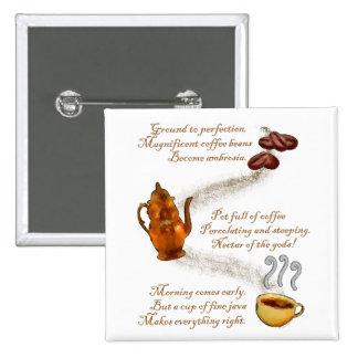 Pin del Haiku del café