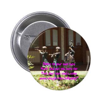 Pin del Haiku del tono de la danza Pin Redondo 5 Cm
