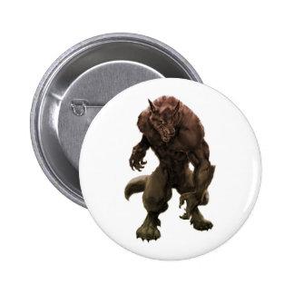 Pin del hombre lobo/botón pin redondo 5 cm
