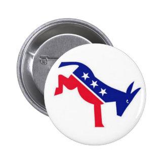 Pin del instinto: Burro de Demócrata