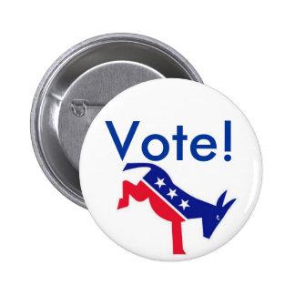 Pin del instinto: ¡Voto! Demócrata