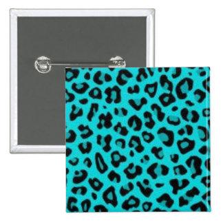 Pin del leopardo de la turquesa