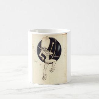 Pin del Majorette de tambor encima del arte Taza Clásica