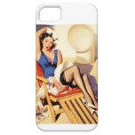 Pin del marinero de la silla de cubierta encima de iPhone 5 Case-Mate fundas