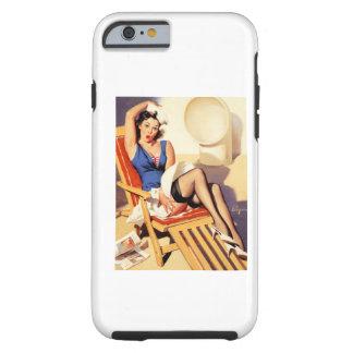 Pin del marinero de la silla de cubierta encima funda de iPhone 6 tough