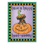 Pin del minuto de Halloween Felicitación