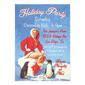 Pin del navidad del vintage encima de invitaciones