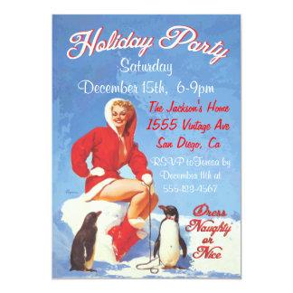 Pin del navidad del vintage encima de invitaciones comunicado