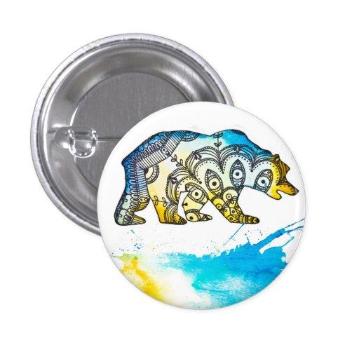 Pin del oso del azul y del oro por Megaflora