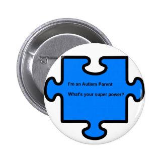 Pin del padre del autismo pin redondo 5 cm