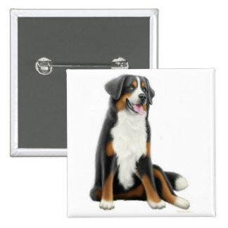 Pin del perro de montaña de Bernese Pin Cuadrada 5 Cm