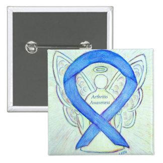 Pin del personalizado del ángel de Blue Ribbon de