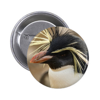 Pin del pingüino de Rockhopper Pin Redondo 5 Cm