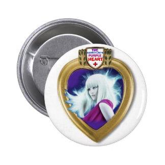 Pin del premio de Purple Heart del Hairstylist Pin Redondo 5 Cm