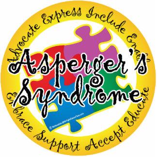 Pin del rompecabezas del síndrome de Asperger Fotoescultura Vertical