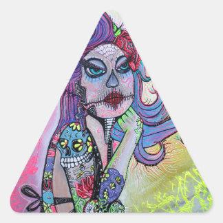 Pin del tatuaje encima del chica pegatina de trianguladas