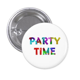 Pin del tiempo del fiesta para los cumpleaños pin redondo 2,5 cm