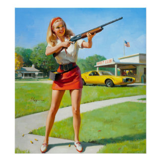 Pin del tiroteo para arriba póster