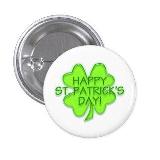 Pin del trébol del verde del día de St Patrick