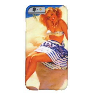 Pin del verano de la playa de Gil Elvgren del Funda De iPhone 6 Slim