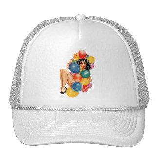 Pin del vintage 50s encima del kitsch modelo del gorras