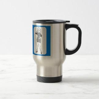 Pin del vintage 60s encima de la señora astuta del taza térmica
