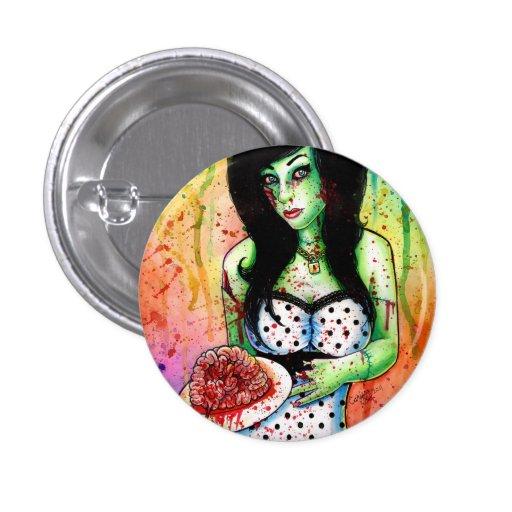 Pin del zombi del arco iris encima del chica