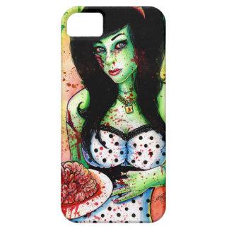 Pin del zombi del arco iris encima del chica funda para iPhone SE/5/5s