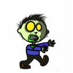 Pin del zombi del vegano escultura fotográfica