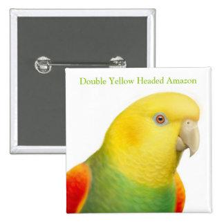 Pin dirigido amarillo del loro de Dbl el Amazonas