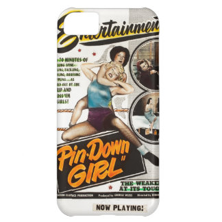 Pin Down Girl Lady Wrestlers Vintage Movie Poster Cover For iPhone 5C