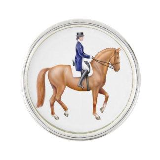 Pin ecuestre de la solapa del caballo del Dressage