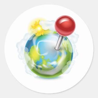 Pin en un globo pegatina redonda