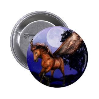 Pin encantado de Pegaso Pin Redondo 5 Cm