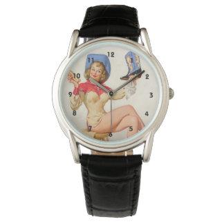 Pin encima de bebés reloj de mano