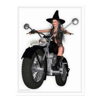 Pin encima de la postal - ~ del chica de la bruja