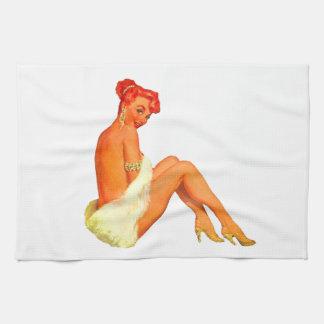 Pin encima del chica toallas de mano