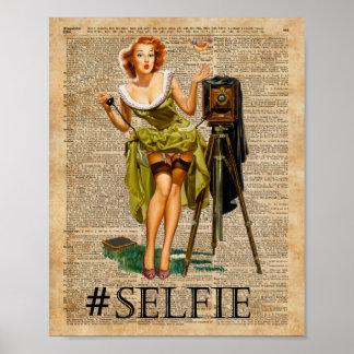 Pin encima del chica que hace arte del diccionario póster